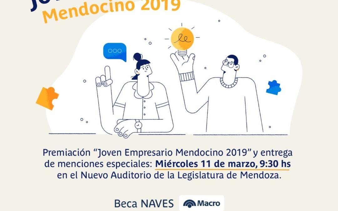 El miércoles 11 de marzo se entrega el Premio Joven Empresario Mendocino
