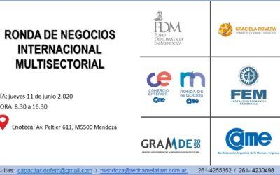 En Junio, Ronda de Negocios Internacional y Multisectorial en La Enoteca