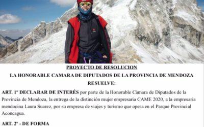 """Diputados declaró de interés provincial el «Premio Mujer Empresaria FEM y MECAME"""""""