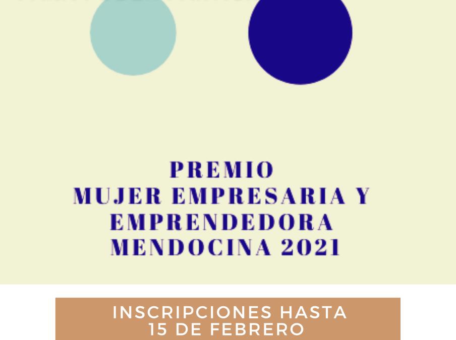 Hasta el 15 de febrero está abierta la inscripción para participar del «Premio Mujer Empresaria y Emprendedora Mendocina 2021»