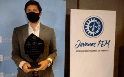 Gastón Ragazzone de la empresa Uco Drone ganó el Premio Joven Empresario Mendocino 2020