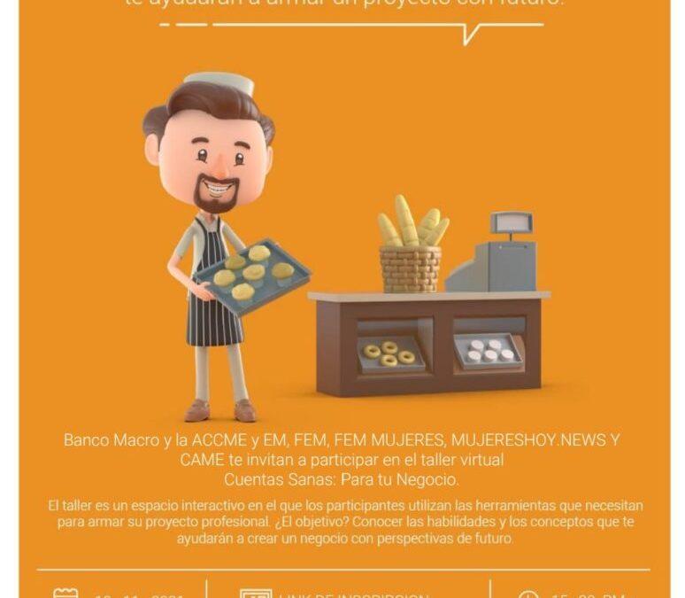 Llega la jornada virtual «Cuentas Sanas para tu Negocio»: cómo participar